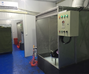 水帘喷胶室